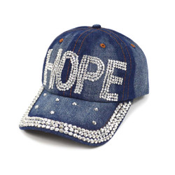 "Bling Studs ""Hope"" Denim Cap"