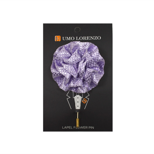 Lavender Poly Lapel Flower Pin F9473-LV