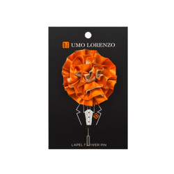 Orange Poly Lapel Flower Pin