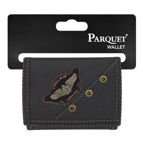 Men's Polyester Small Eagle Tri-fold Velcro Wallets
