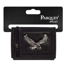 Men's Polyester Large Eagle Tri-fold Velcro Wallets