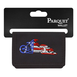 Men's Polyester Tri-fold Velcro Wallets MW10105