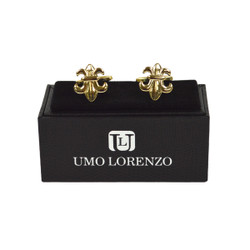 "Gold-tone ""Fleur-de-lis"" Brass Novelty Cufflinks NCL1602"