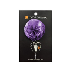 Lavender Solid Poly Flower Lapel Pin F10084-LV