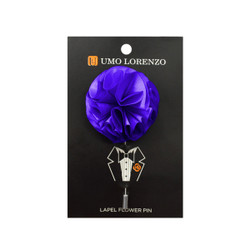 Purple Solid Poly Flower Lapel Pin F10084-PU
