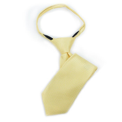 Boy's Yellow Geometric/Polka Dot  Zipper Tie - MPWZ1136