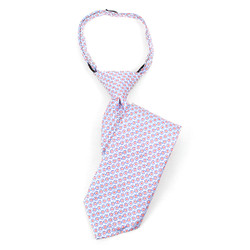 Boy's  Blue & Red Geometric/Polka Dot Zipper Tie - MPWZ14-24