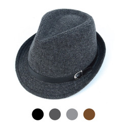 Fall/Winter Poly/Cotton Westend Fedora Hats - H10332