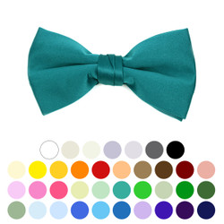 Boy's Poly Satin Banded Clip On Bow Ties BBC1701