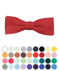 "Boy's 1.5"" Poly Satin Banded Bow Ties - BBT1301"