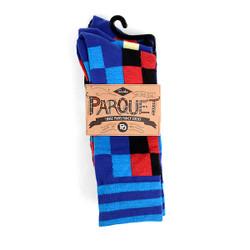 3pcs (3 Pairs) Men's Blue Casual Fancy Socks 3PKS/MB