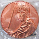 Star Wars California Lottery Exclusive Luke Skywalker Metal Coin