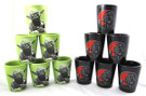 Star Wars Set of 12 Darth Vader & Yoda Ceramic Shot Glasses