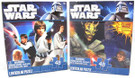 Star Wars Set of 2 Classic & Clone Wars 48pc Lenticular 3D Puzzles