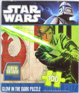 Star Wars Luke Skywalker Rebel 100pc Glow in the Dark Puzzle
