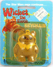 1983 Star Wars Ewoks Wicket Key Chain on Card