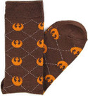 Star Wars Rebel Logos Argyle Men's Crew Socks Shoe Size 6-12
