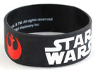 Star Wars Rebel & Imperial Logos Black Rubber Wristband Sealed