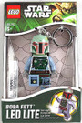 Star Wars Lego Boba Fett Figure Key Chain / LED Key Light 3""