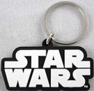 Star Wars Black & White SW Logo Rubber Key Chain