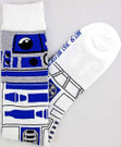 Star Wars R2-D2 (R2D2) Junior/Women's Socks Shoe Size 4-10