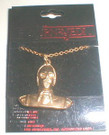 1983 Star Wars C-3PO Bust Necklace on plastic backer