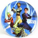Star Wars Clone Wars Plastic Cake Plate w/Ahsoka, Yoda, etc.