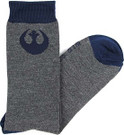 Star Wars Rebel Logo Dark Grey Men's Crew Socks Shoe Size 6-12