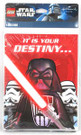 Star Wars Lego Party Invitations w/ Darth Vader 8 pack