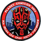 Star Wars 2013 Planet Comic Con Darth Maul Embroidered Patch