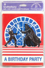 1983 Star Wars ROTJ Party Invitations Luke & Darth Vader 8 pack