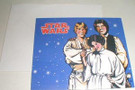 1978 Star Wars Luke, Leia, Han gift card w/envelope