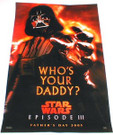 "Star Wars Darth Vader ""Who's Your Daddy?"" Fathers Day Poster 11x17"""