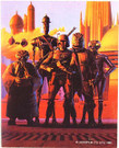1980 Star Wars ESB Fan Club Boba Fett Bounty Hunters Sticker 4x5""