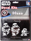 Star Wars Stormtrooper My Family Vinyl Decal Set