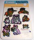 1983 Star Wars ROTJ Prismatic Stickers, Ewoks, Sealed