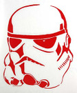 Star Wars Stormtrooper Red Vinyl Window Decal