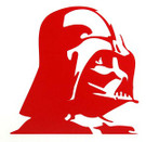 Star Wars Darth Vader Profile Red Vinyl Window Decal