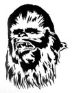 Star Wars Chewbacca Black Vinyl Window Decal