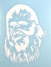 Star Wars Chewbacca White Vinyl Window Decal