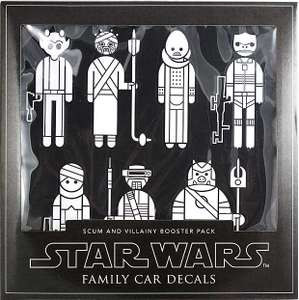 Star Wars Family Car Decal Set Of Scum Villainy Booster Pack - Star wars family car decals