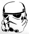 Star Wars Stormtrooper Black Vinyl Window Decal