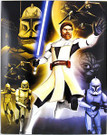 Star Wars Clone Wars Obi Wan, Yoda, Clone Troopers School Folder