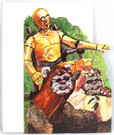 1983 Star Wars C-3PO & Ewoks Birthday Card