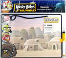 Star Wars Angry Birds Hanging Dry Erase Board 11 inches
