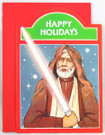 "1977 Star Wars Christmas Obi Wan ""Happy Holidays"" Card"