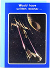 1977 Star Wars X-Wing / Vader TIE Fighter Written Sooner Greeting Card