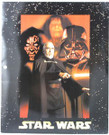 Star Wars Episode 2 Darth Maul/Vader School Folder Unused