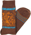 Star Wars Chewbacca Is My Co Pilot Men's Crew Socks Shoe Size 6-12