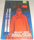 1983 Star Wars ROTJ Blue Ink Ball point pen 2 pack, sealed